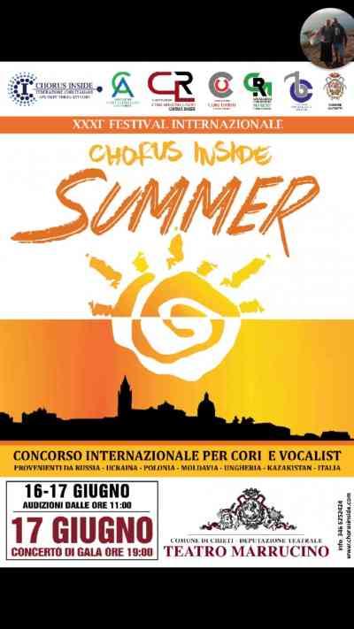Sinergia fra cultura e turismo  l Abruzzo capitale europea del canto corale  nel Festival Internazionale del Chorus Inside Summer. 8a2558f5da7c